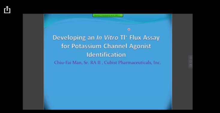 Developing an in vitro Tl+ flux assay for potassium channel
