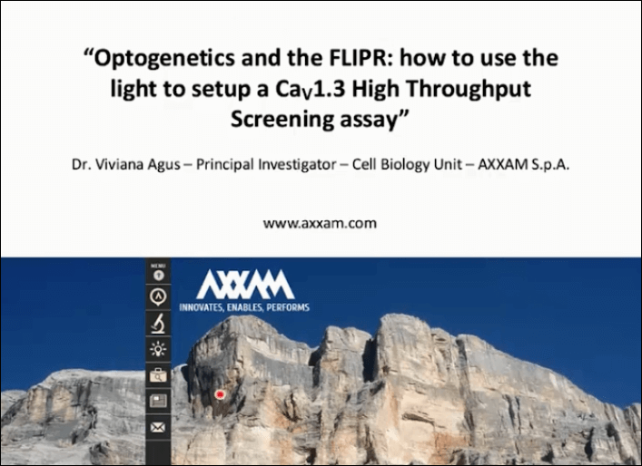 Optogenetics and the FLIPR: Cav1.3 high-throughput screening assay