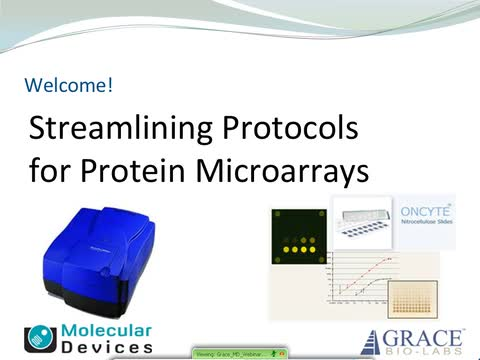 Streamlining Protocols for Protein Microarrays