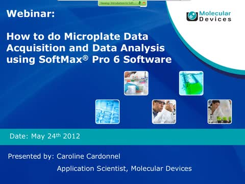 Microplate Data Acquisition and Data Analysis Using SoftMax Pro 6 Software
