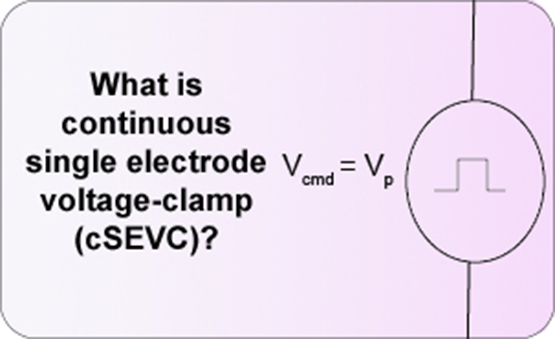 What is continuous single electrode voltage-clamp (cSEVC)?