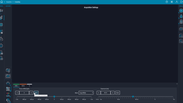 z-stack image acquisition using CellReporterXpress