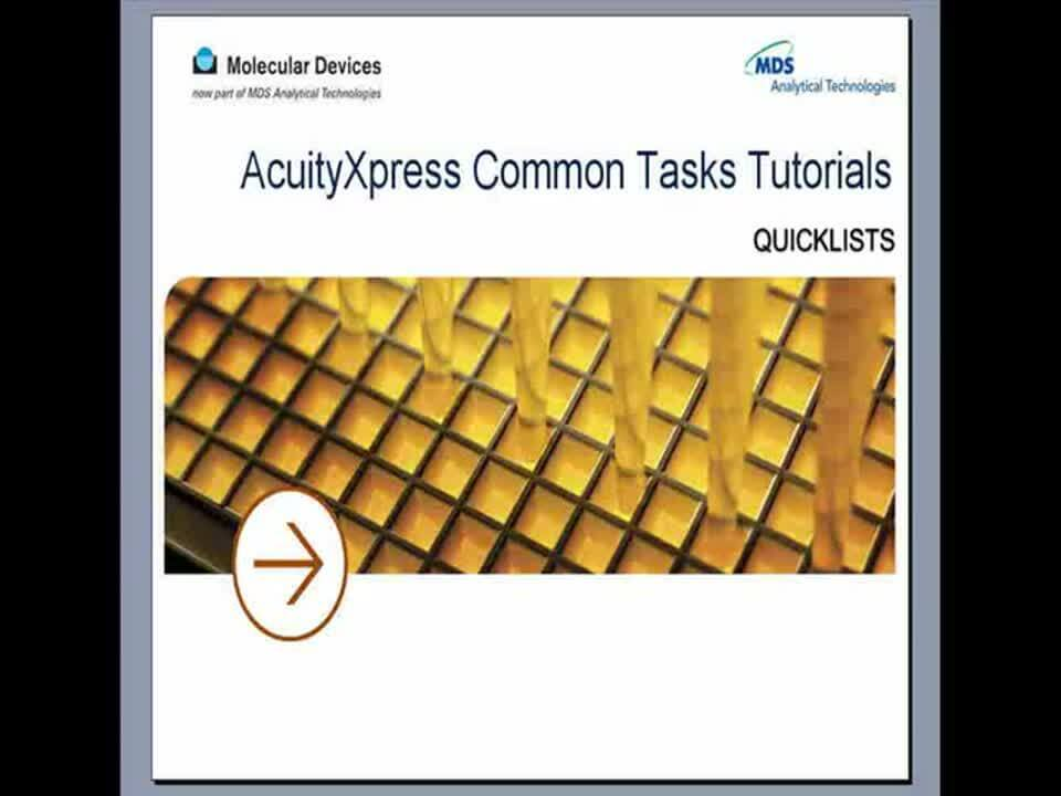 AcuityXpress Quicklists