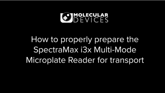 Prepare your SpectaMax i3 or i3x instrument