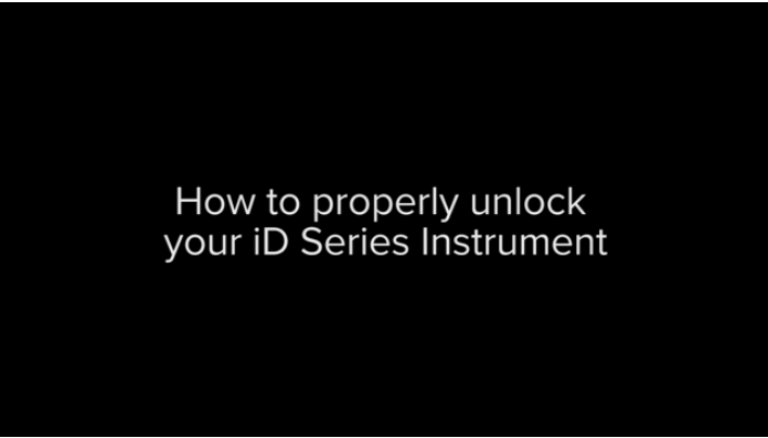 How to properly unlock iD series instrument