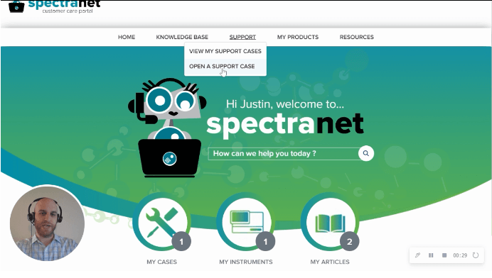 Create a Case  with Spectranet